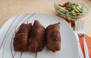 Rouladen mit Salat