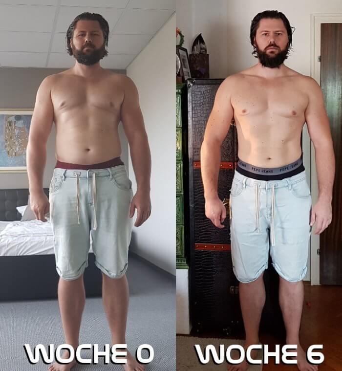 Bodytransformation Vorher Nachher
