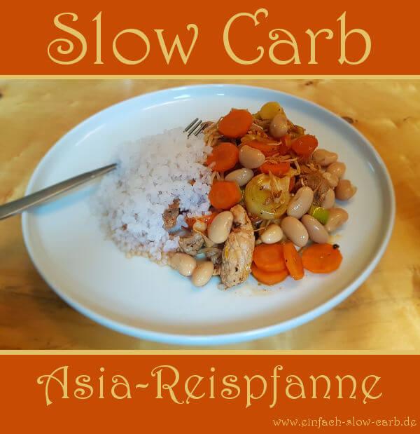 Slow Carb Asia-Reispfanne
