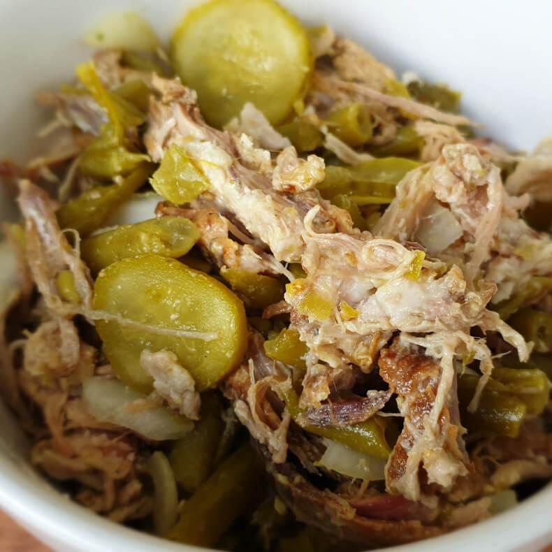 Pulled Pork-Bohnen Salat
