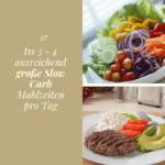 Iss 3 - 4 ausreichend große Slow Carb Mahlzeiten pro Tag