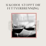 Alkohol stoppt die Fettverbrennung